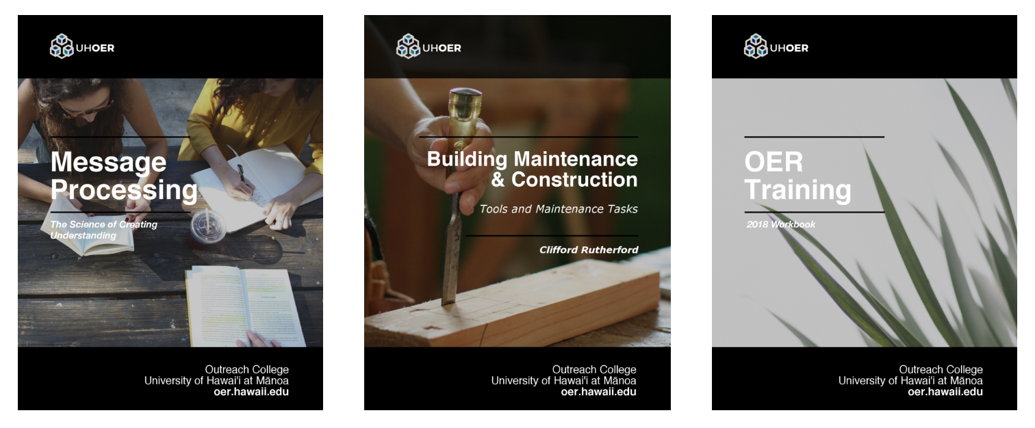 September 2018 UH OER Releases – Communicology, Building Maintenance, and OER Training Pressbooks