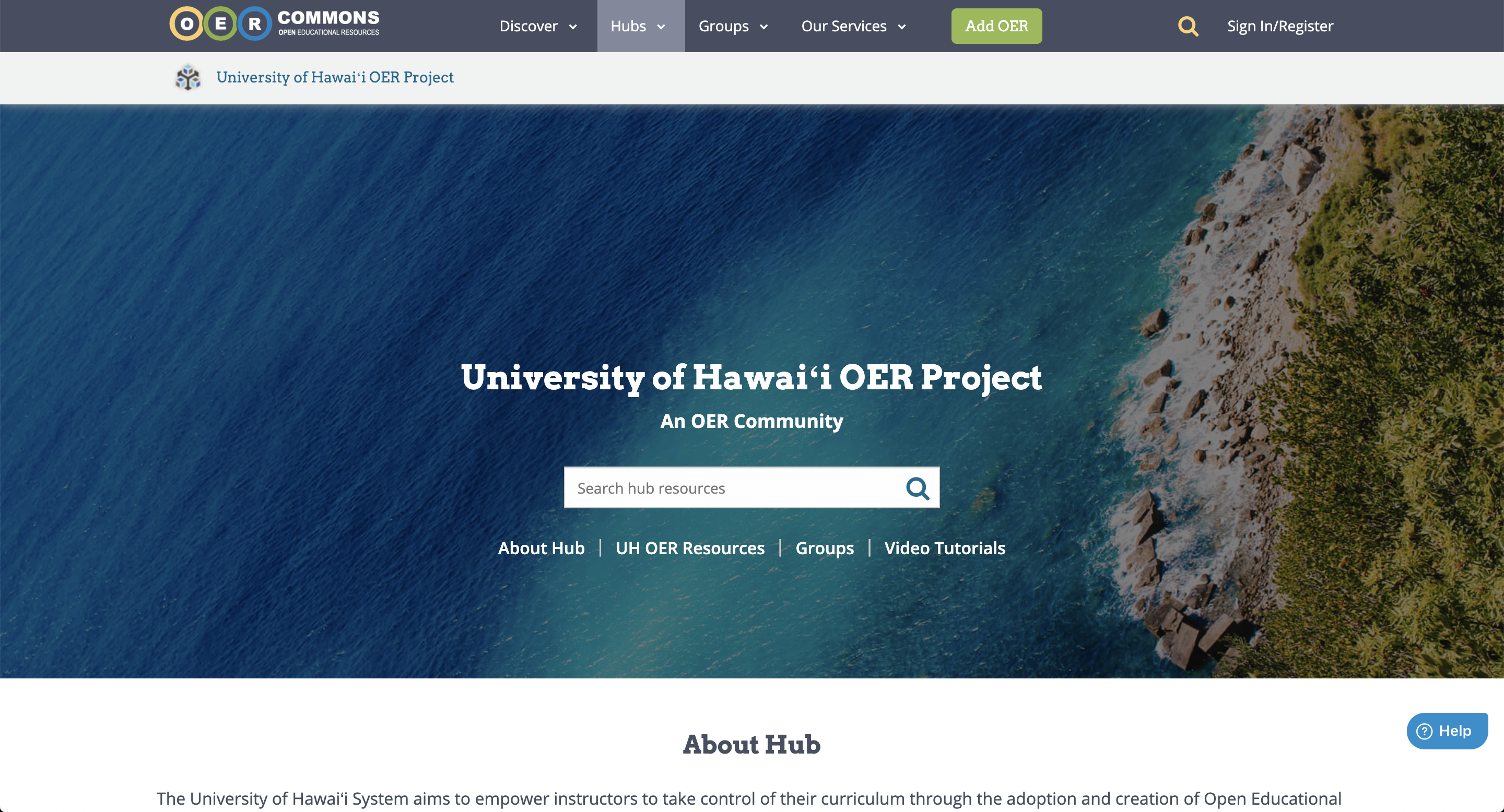 UH OER Hub on OER Commons